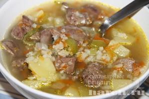 как приготовить суп с куринной печенью