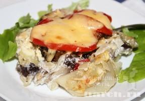 Рыбные стейки с грибами по кремлевски