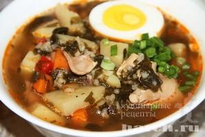 Суп со щавелем и рисом Залесецкий
