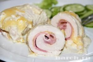 Филе куриное с ветчиной и сыром рецепт