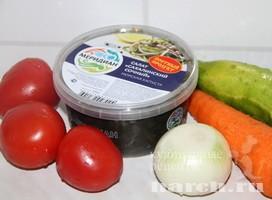 Салат из морской капусты с овощами Дальний Восток