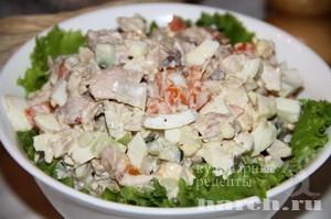 Салат с курицей Чеботурка