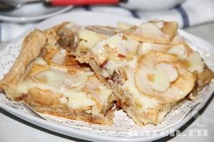 Слоеный пирог с яблоками пошагово
