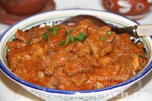 Острая говядина в соусе по арабски