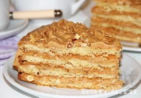 Торт с вареной сгущенкой и орехами. Вкусный и легкий в ... | 200x287