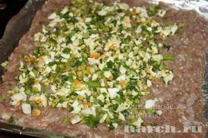 Рулет мясной с яйцом и зеленым луком — pic 3