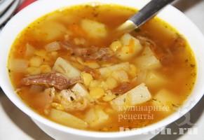 Гороховый суп со сливочным маслом Бархатец
