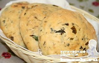 Армянские лепешки с зеленью