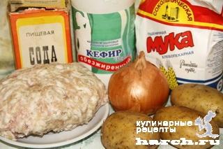 Бабушкины вареники с фаршем и сырым картофелем
