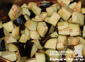 Баклажаны с фасолью и овощами