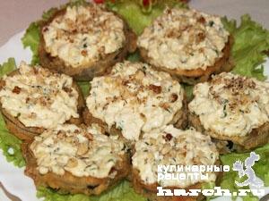 Баклажанные пирожные с орехами Восточная сказка