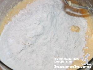 bavarskiy pirog s tvorogom i slivami 04 Баварский пирог с творогом и сливами