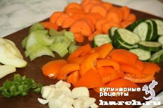 Быстромаринованный овощной микс