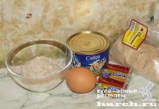 """Биточки из консервированной рыбы """"Одесские"""""""