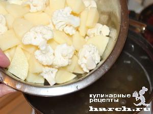 borgh getmanskiy s baklaganami i cvetnoy kapustoi 05 Борщ гетманский с баклажанами и цветной капустой