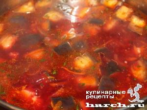 borgh getmanskiy s baklaganami i cvetnoy kapustoi 09 Борщ гетманский с баклажанами и цветной капустой