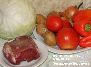 borgh krasnodarskiy so sladkim percem i tomatami 011 Борщ краснодарский со сладким перцем и томатами