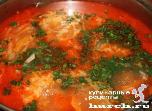 borgh krasnodarskiy so sladkim percem i tomatami 10 Борщ краснодарский со сладким перцем и томатами