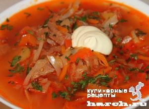 borgh krasnodarskiy so sladkim percem i tomatami 111 Борщ краснодарский со сладким перцем и томатами