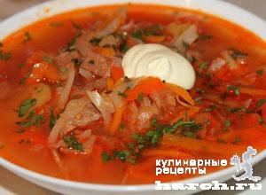 borgh krasnodarskiy so sladkim percem i tomatami 1231 Борщ краснодарский со сладким перцем и томатами