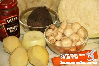 borgh s utkoy i gribami panskiy 01 Борщ с уткой и грибами Панский