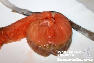 Чесночные стейки из семги