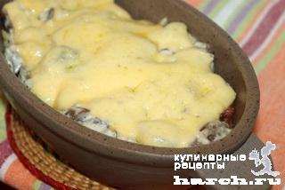 Деруны в горшочке с грибами по-галицки