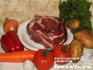 fermerskoe garkoe is celnogo kuska svinini 01 Фермерское жаркое из цельного куска свинины