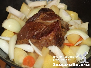 fermerskoe garkoe is celnogo kuska svinini 08 Фермерское жаркое из цельного куска свинины