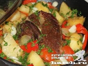 fermerskoe garkoe is celnogo kuska svinini 111 Фермерское жаркое из цельного куска свинины