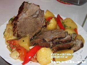 fermerskoe garkoe is celnogo kuska svinini 121 Фермерское жаркое из цельного куска свинины