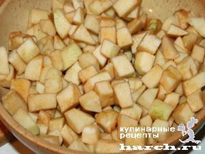 Французский яблочный пирог с миндалем
