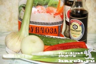 funcosa s ovogami 01 Фунчоза с овощами