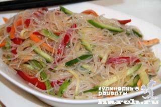 салат с фунчозой с овощами рецепт с фото