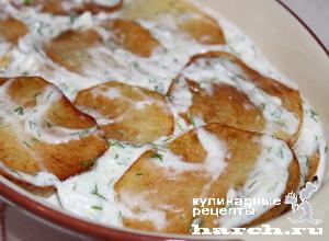 Картошка с майонезом и чесноком на сковороде рецепт