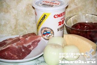 Жаркое из свинины с куриной печенью по-княжески