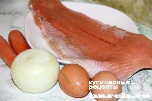 Горбуша с луком и морковью по-житомирски