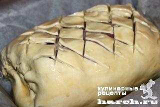 Говядина с грибами в тесте