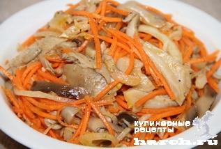 грибы вешенки по корейски рецепты