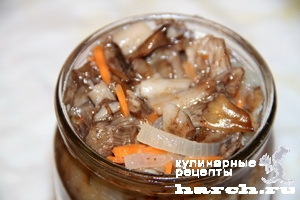 Грибы по-корейски на зиму