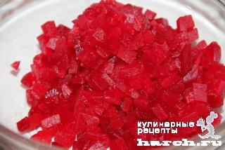 Грибной салат со свеклой по-новгородски