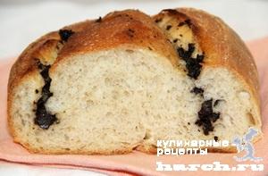 Хлеб пшенично-ржаной с маслинами