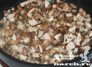 Кабачки, фаршированные перловкой и грибами