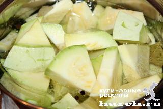 Кабачки, маринованные с маслом