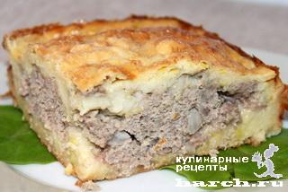 Кабачковый пирог с мясным фаршем