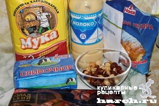 Карамельное печенье с шоколадом и орехами
