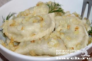 Картофельные вареники с мясом