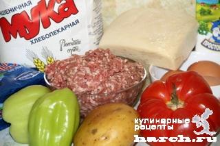 Картофельный пай с мясным фаршем