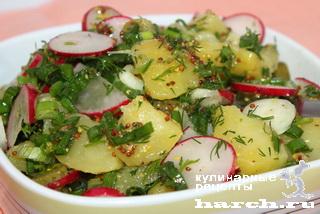 Картофельный салат с редисом по-гамбургски