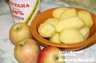 Картофельно-яблочное пюре